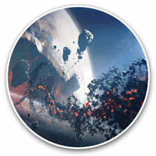 2 x Vinyl Stickers 15cm - Alien Sci-Fi Planet Space Gamer Cool Gift #14034