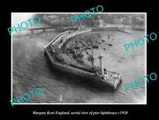 OLD LARGE HISTORIC PHOTO OF MARGATE KENT ENGLAND, THE PIER LIGHTHOUSE c1920