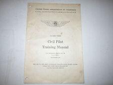 (3) 1941 CIVIL PILOT TRAINING MANUALS - CIVIL AERONAUTICS ADMINISTRATION -TUB EM
