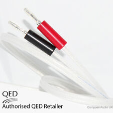 2 x 1.5m QED Silver Anniversary XT Speaker Cable SILVER 4mm Banana Plugs Fitted
