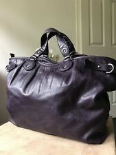 Ecco large purple faux leather handbag tote