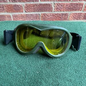 British Army Surplus Issue Bolle Goggles Safety Goggles Green, Yellow Lenses