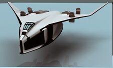 SSTO-TAV-37B Avatar Space Shuttlecraft Wood Model Replica Small Free Shipping