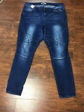 Crave Fame By Almost Famous Moto Stretchy Jeans Size 16 36 X 30