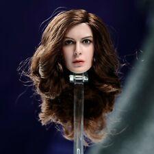 """Anne Hathaway 1/6 cabeza esculpida de niña talla de PVC para 12"""" Vengadores Figura De Acción"""
