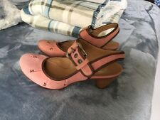 NEW Women's Bata Pink Salmon Leather Covered Toes Strappy Shoe Size 7 or 38 Eur