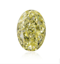 Loose Diamond 2 CT GIA Certified Natural Oval Cut Fancy Light Yellow VS2 Clarity