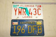 PM73: Nummernschilder Sammlung Auflösung Raritäten California Florida
