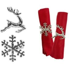 Silver Christmas Napkin Rings - Stag, Snowflake, Star or christmas Tree
