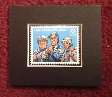 MATTED UNUSED U.S. POSTAGE STAMP HONORING LETTER CARRIERS issued in 1989