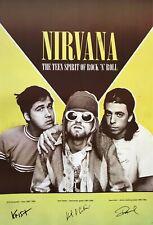 "Nirvana ""Teen Spirit Of Rock N' Roll"" Poster From Asia - Grunge Music Legends"