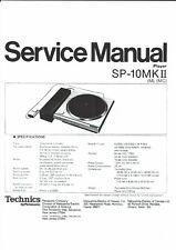 Technics Service Manual para SP - 10 MKII