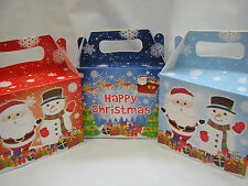 set of 6 small christmas gift boxs,santa,snowman presents,lunchbox etc