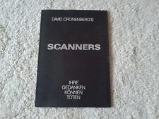 Original Presseheft    Scanners    David Cronenberg