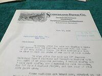 1918 Letter, Sutherland Paper Co. Kalamazoo MI, Autograph F.W. Sutherland