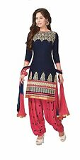 Indian Stylish Designer Bollywood Party Faux Cotton Salwar Suit Dress Material