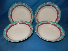 "Set of 4 Furio Merida 7 5/8"" Soup Salad Cereal Bowls Purple Turquoise Southwest"
