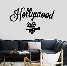 Wall Vinyl Decals Hollywood Camera Movie Cinema Cool Amazing Decor z3758