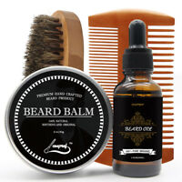 Beard Oil for Men - Grooms Beard, Mustache, Boosts Hair Growth - Beard Whole Kit