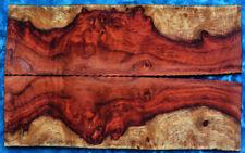 Knife,craft,scale, 2tone red Amboyna burls 2