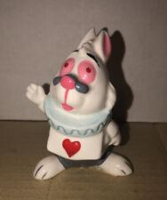 Alice In Wonderland Queen of Hearts White Rabbit Porcelain Figure Disney Japan