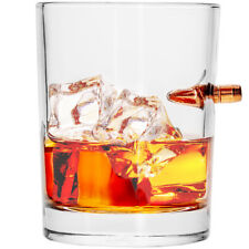 Lucky Shot .308 Real Bullet Handmade Whiskey Glass