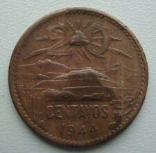 Mexico 20 Centavos 1944 Bronze Coin S10