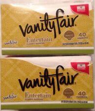 Vanity Fair Entertain Classic White  Dinner Napkins, 3-Ply, 40 Count, 2 Packs