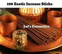 100 Bulk Pack Incense Sticks Hand Dipped Premium Quality Fragrance Oil