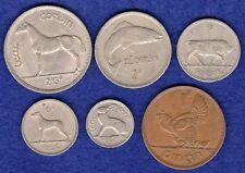 Ireland, Year Set of 6x 1963 Irish Coins, Halfcrown to Penny (Ref. t0387)