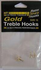 Hi-Tech Gold Treble Hooks Size 16 Qty (4)