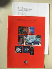 Prospekt und Preise BMW 3er E46 ALPINA ZUBEHÖR Limousine Ausgabe 1999 deutsch