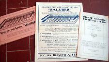 1930 OPUSCOLI VOLANTINI PUBBLICITARI LETTI ELASTICI SALUBER MILANO. LETTI STAGNI