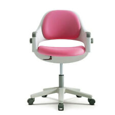 SIDIZ Junior Computer Chair Ringo  Pink Adjustable Backrest Swivel Step Up NEW