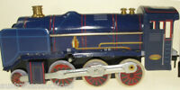 CLOCKWORK  STEAM TRAIN WITH TENDER & PASSENGER CARRIAGE TIN TOY LMS COLLECTIBLE