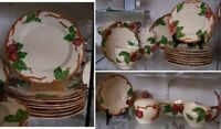 NICE SERVICE FOR 8 FRANCISCAN APPLE DINNERWARE SET 44 PC