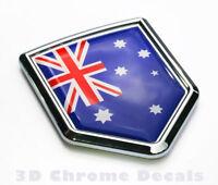 Australia Flag Car Chrome Emblem 3D Decal Sticker