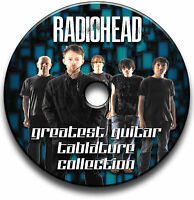 120 x RADIOHEAD ROCK GUITAR TAB TABLATURE SONG BOOK TUITION SOFTWARE CD