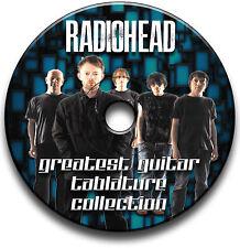 120 x RADIOHEAD ROCK GUITAR TAB TABLATURE SONG BOOK TUITION SOFTWARE CD