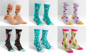 Sock It To Me E8 Women's Crew Socks Cat / Dog / Bird / Fox & more Choose W
