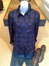CAbi Check Shirt #3431 Size Extra Small Fall 2017 Moody Plaid