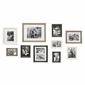 Kate and Laurel Bordeaux Gallery Wall Kit Set of 10 with Assorted Size Frames...