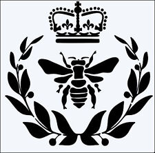 QUEEN BEE FLEXIBLE 190 MYLAR RE USEABLE STENCIL - 6 x 6 - IMAGE SIZE 13.5 x 14cm