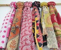 Cotton Kantha Scarf Neck Wrap Stole Dupatta Hand Quilted Women Bandanas headband