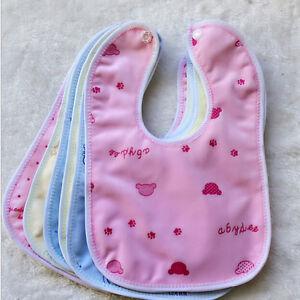 Newborn Toddler Infant Baby Boy Girl Bibs Waterproof Saliva Cartoon Towel &ZY
