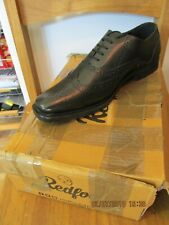 Redfoot Black Leather Oxford Brogue Mens shoe UK 8/Euro 42 RRP £79.99