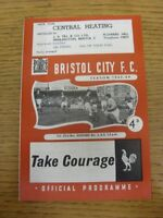 23/11/1963 Bristol City v Watford  . Thanks for viewing this item, we try and in