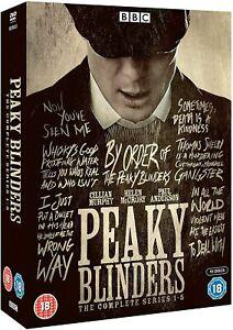 "PEAKY BLINDERS COMPLETE BBC SERIES 1-5 DVD BOX SET 10 DISCS ""NEW&SEALED"""