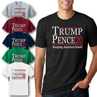 Trump/Pence 2020 Keeping America Great MAGA T-Shirt Official Campaign Logo Tee