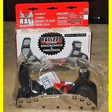 Rali Handhobel 220 Evolution - Nickel - mit lamellarer Sohle mit 4 Messern - Neu